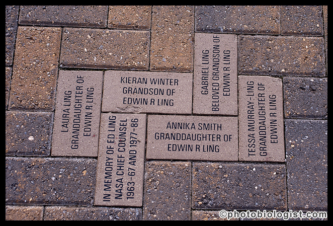 Honorary bricks in front of the Infinity Science Center.