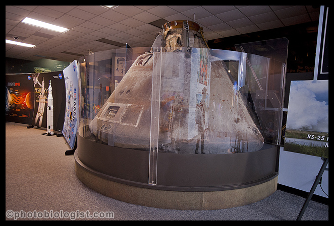 The presenters were challenged to find things we could understand to compare the SLS and the RS-25 to...  Many times they used the Apollo program (represented by the Command Module for Apollo 4 that we saw!) or a sport-utility vehicle or a racing car.