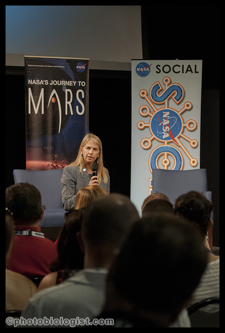 We had a surprise speaker, Dr. Dava Newman, NASA Deputy Administrator.  It was her second time at a social media event.